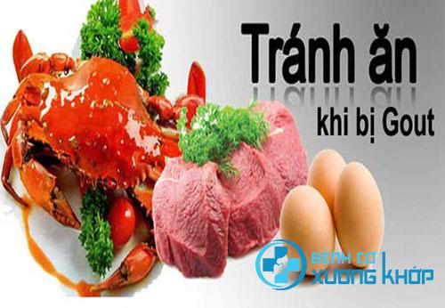 Những thực phẩm không nên sử dụng khi bị bệnh Gout