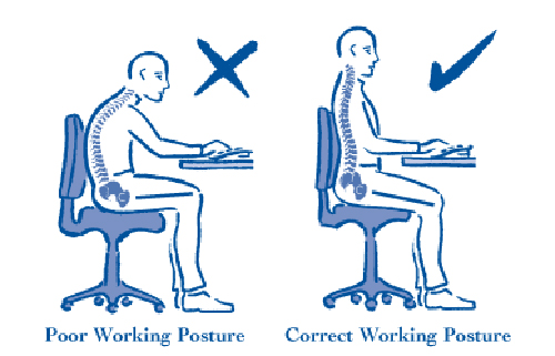 Ngồi làm việc đúng tư thế giúp bạn hạn chế được chứng đau lưng