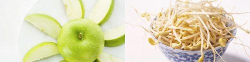 Giá dỗ và táo xanh 2 thực phẩm rất tốt cho người bệnh mỡ máu